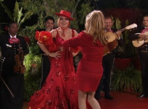 At Charo's house, dancing for your supper is taken literally.