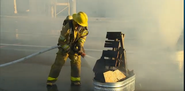 Wells extinguishes an unit fire